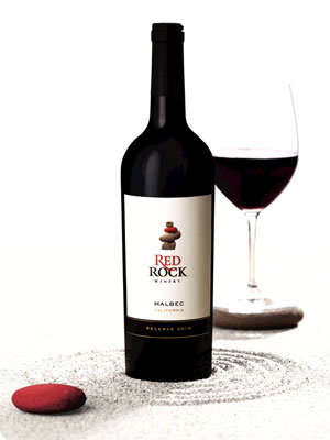 Photo of a bottle of Red Rock Malbec 2010