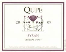 label for the 2009 Qupe Syrah