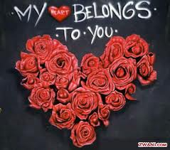 photo of roses - my heart belongs to you.