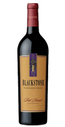 photo of bottle of Blackstone red blend
