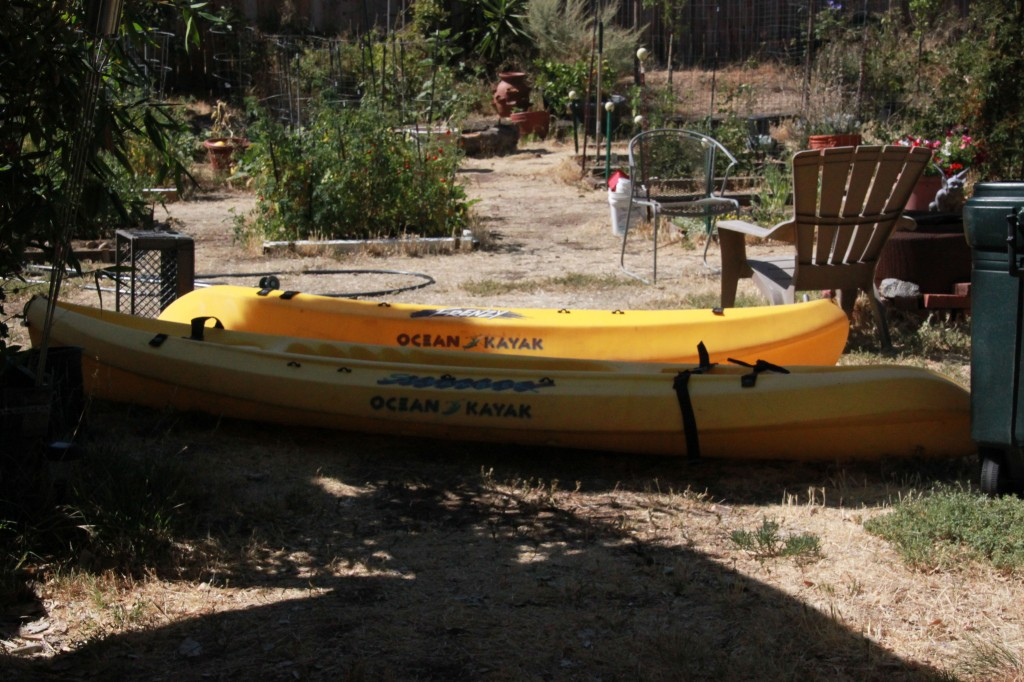 Kayaks, and the garden. Two of my favorite things...