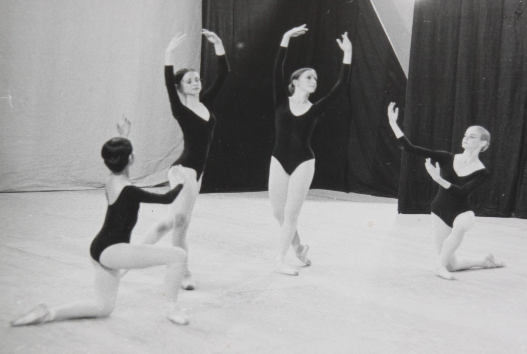 """Innovations""  ballet, choreographed by Greg Smith. From left to right: Karen Gabay, Patrice Dabrowski, Christine (Me), Anne Dabrowski"