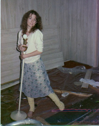 "Christine, at the ""new"" house in 1985. Photo by Tom Ashworth"