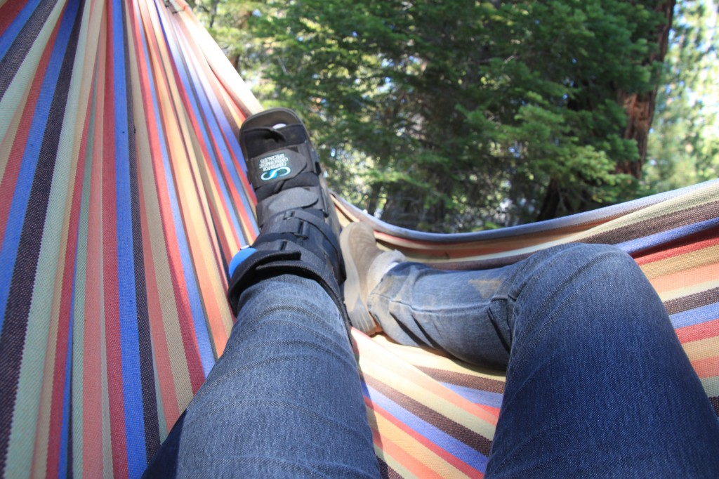 "Lazing in the hammock, August 2011 - my last ""real"" vacation."