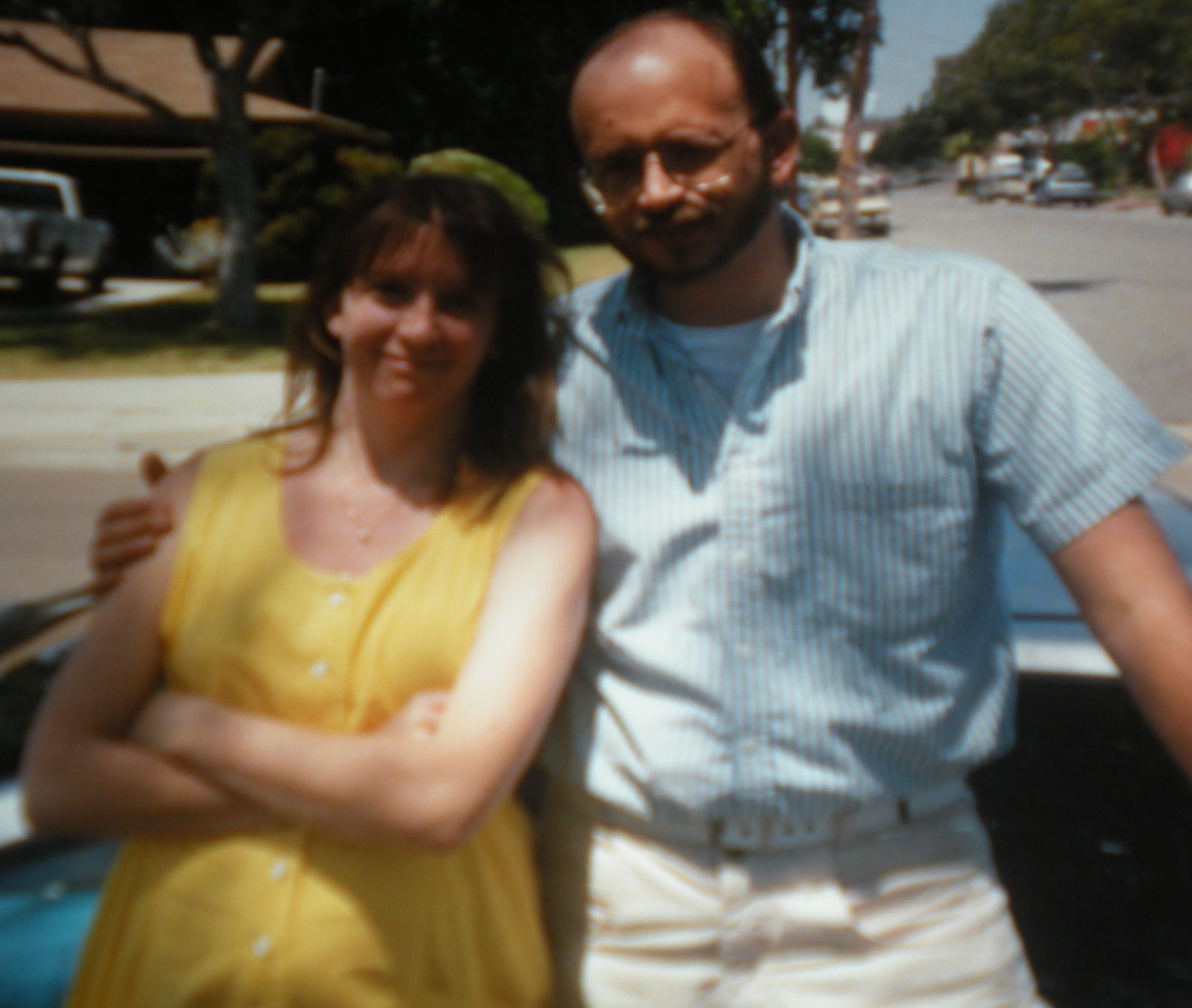 Scott and me at about 6 months pregnant - June? 1990