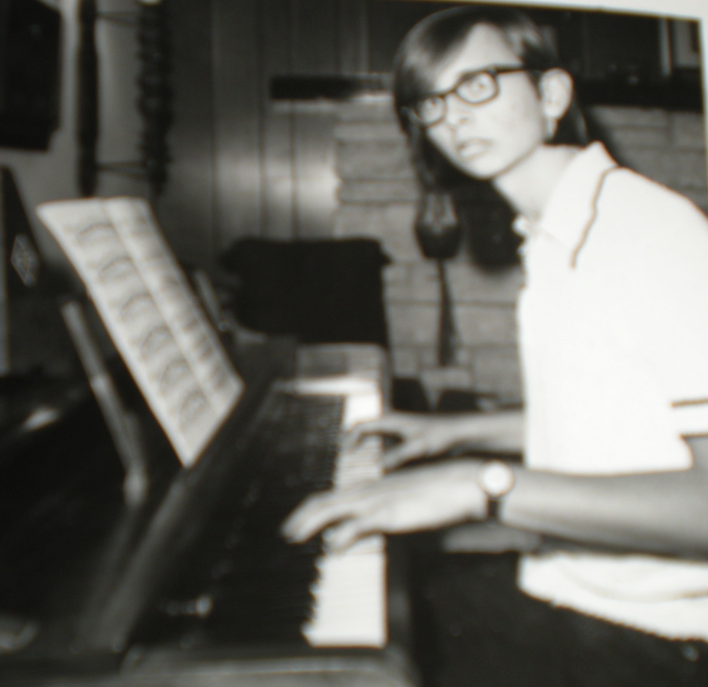 Scott Cunningham, at the piano - 1975 or 1976 - not sure (photo undated).
